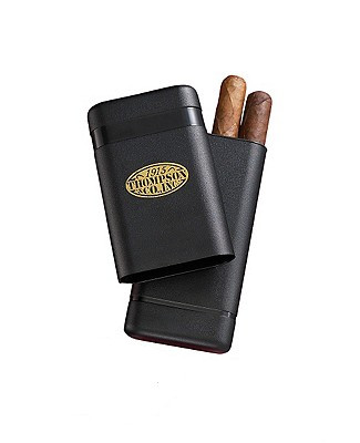 3 Finger Black Telescoping Cigar Case